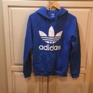 Adidas blue hoodie sweatshirt s